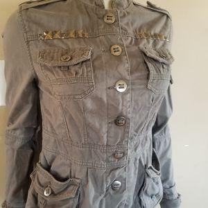 Amercan rag Studded military womens anorak jacket